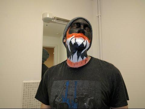 Halloween Tutorial - Paint Your Face Like Finn Balor!! (Demon King)