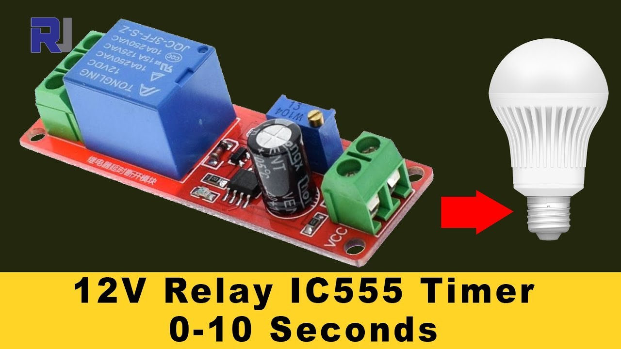 hight resolution of 555 timer switch 12v relay with adjustable time test review