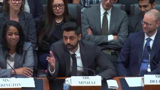 Hasan Minhaj's testimony before Congress on the student loan crisis (read description)