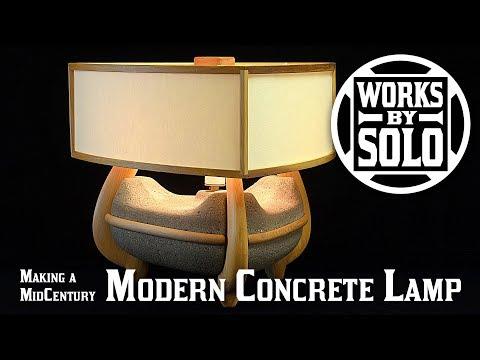 MIDCENTURY MODERN CONCRETE LAMP