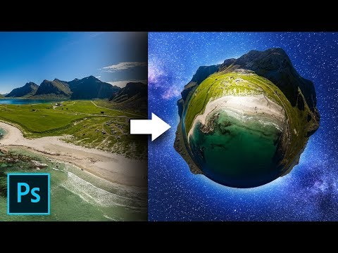 Turn 2D Photos to 3D Planets in Photoshop!