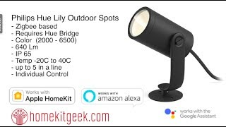 Philiips Hue Lily Outdoor Spotlights