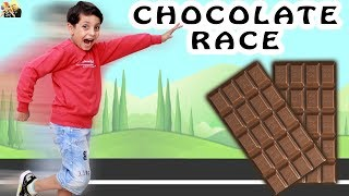 CHOCOLATE RACE #Game Sharing is Caring | Moral Value for kids | Aayu and Pihu Show