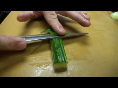 Fast Precise Cutting Skills Using One of The World's Sharpest Knife - How To Make Sushi Series