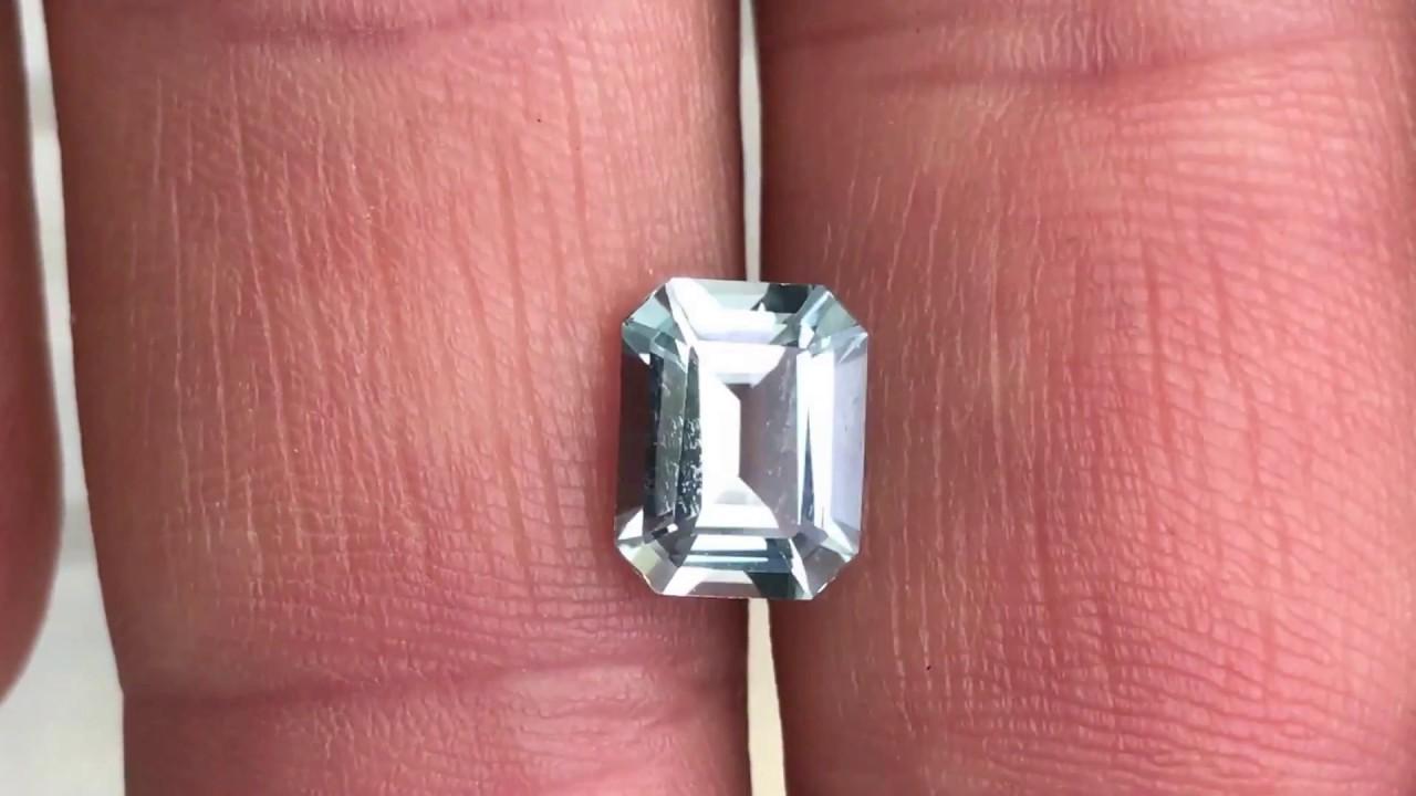Aquamarine Gemstone Emerald Cut Grade AA at AfricaGems - YouTube