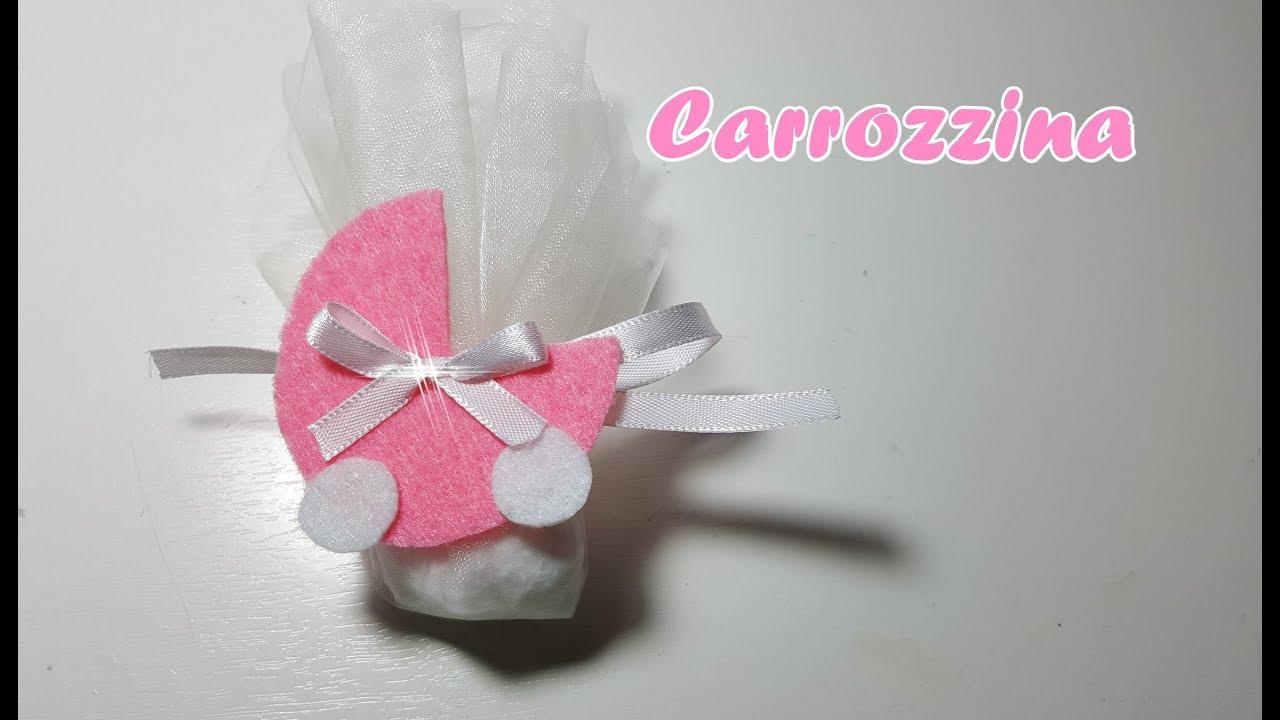 Estremamente Carrozzina fai da te in feltro -Bomboniera battesimo/nascita fai  XA42