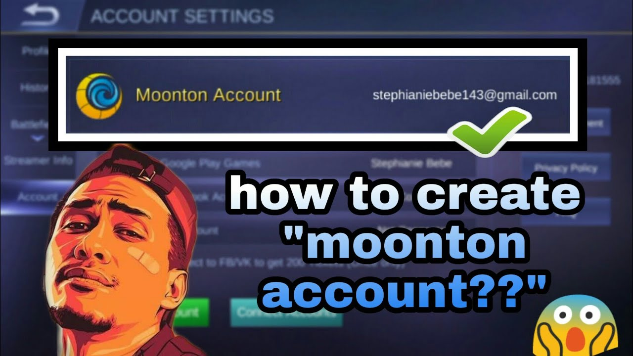 How To Create Moonton Account On Mobile Legends Youtube