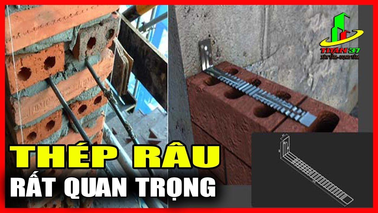 Thép râu tường, thép râu cột, cách thi công thép râu tường, khoan cấy râu tường | Xây dựng titan 37