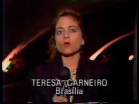 Chamada Incompleta - Collor Troca de Ministro - Jornal da Manchete 1ª Edição - 1992