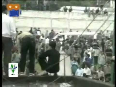Kharab shodan-saghf-varzeshgah-nowshahr