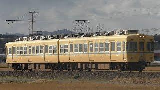 《1月7日引退》一畑電車2100系2102F旧電鉄色 @雲州平田ー布崎