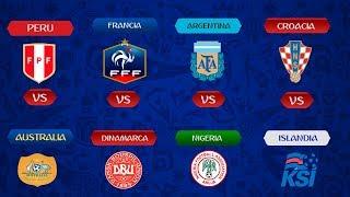 MUNDIAL 2018   🇦🇺AUS vs PER 🇵🇪   🇩🇰DIN vs FRA 🇫🇷   🇳🇬NIG vs ARG 🇦🇷   🇮🇸ISL vs CRO 🇭🇷
