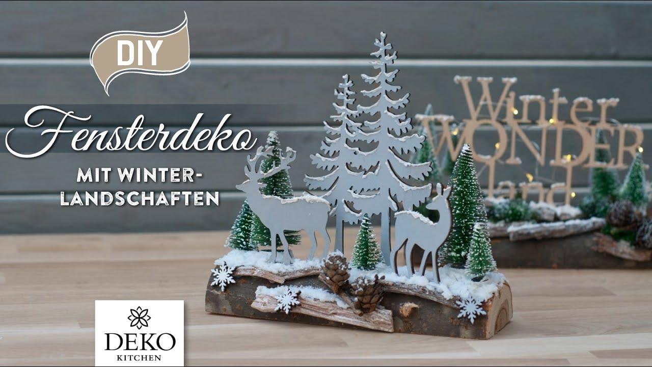 Diy weihnachtliche fensterdeko mit h bscher - Winterlandschaft deko ...