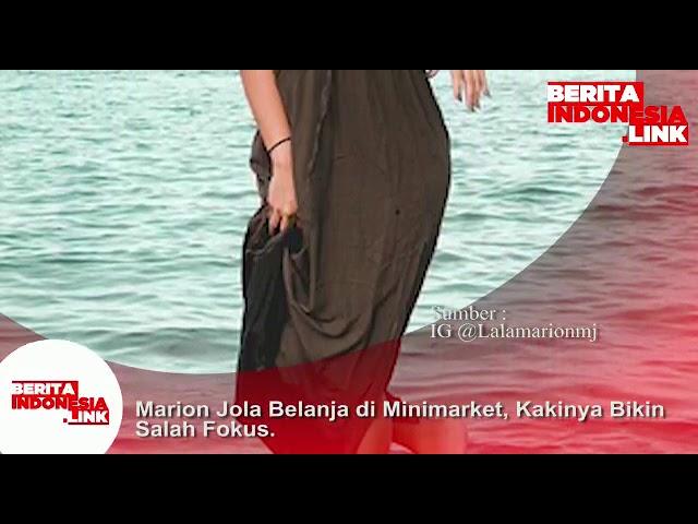 Marion Jola belanja di Mini Market, kakinya bikin salah Fokus .