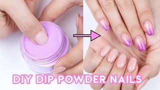 Doing Dip Powder Nails At Home 💅🏻