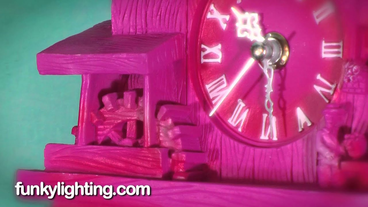 Funky bright pink moving cuckoo wall clock youtube - Funky cuckoo clock ...