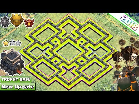 New Town Hall 9 Base Layout 2018 | Anti LAVALOON th9 base | Anti 3 & 2 Stars - Clash of Clans 2018