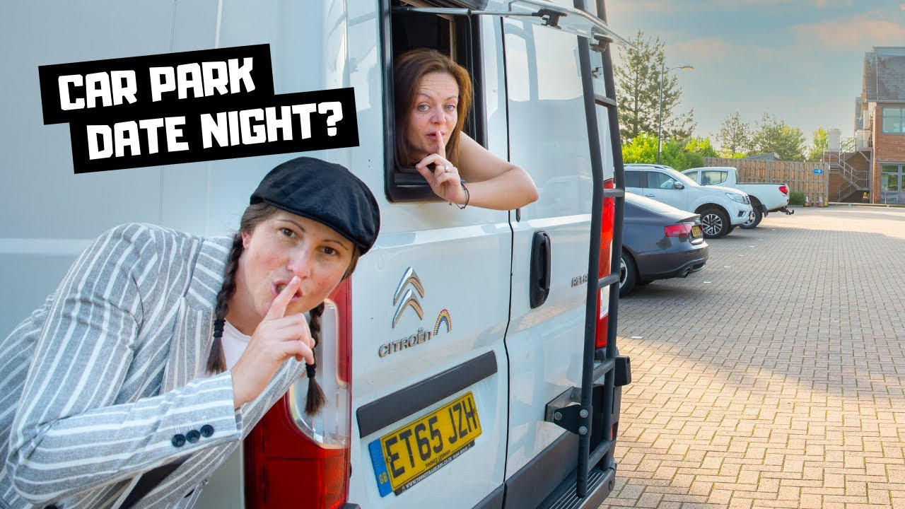 She took me to a SUPERMARKET CAR PARK for DATE NIGHT!! Vanlife UK stealth camp.