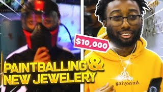 PICKING UP MY $10,000 CHAIN + PAINTBALLING WITH HUH NATION! (Ft Geesice, Silky, & More)