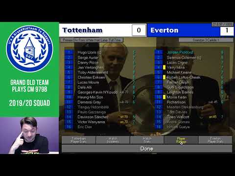 GrandOldTeam plays Champ Man 97/98 with 2019 Everton Squad