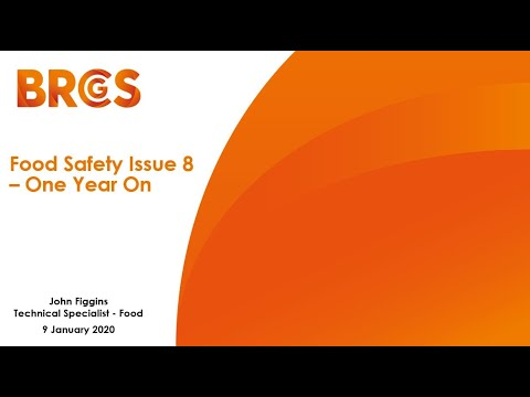 Food Safety Issue 8 - One Year On.