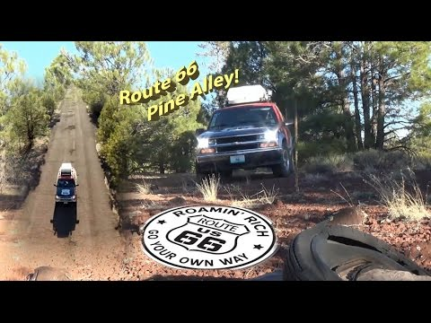 Pine Alley Route 66 Near Flagstaff, Arizona.  Lost and abandoned highway. Rare Find!!! Old Culvert
