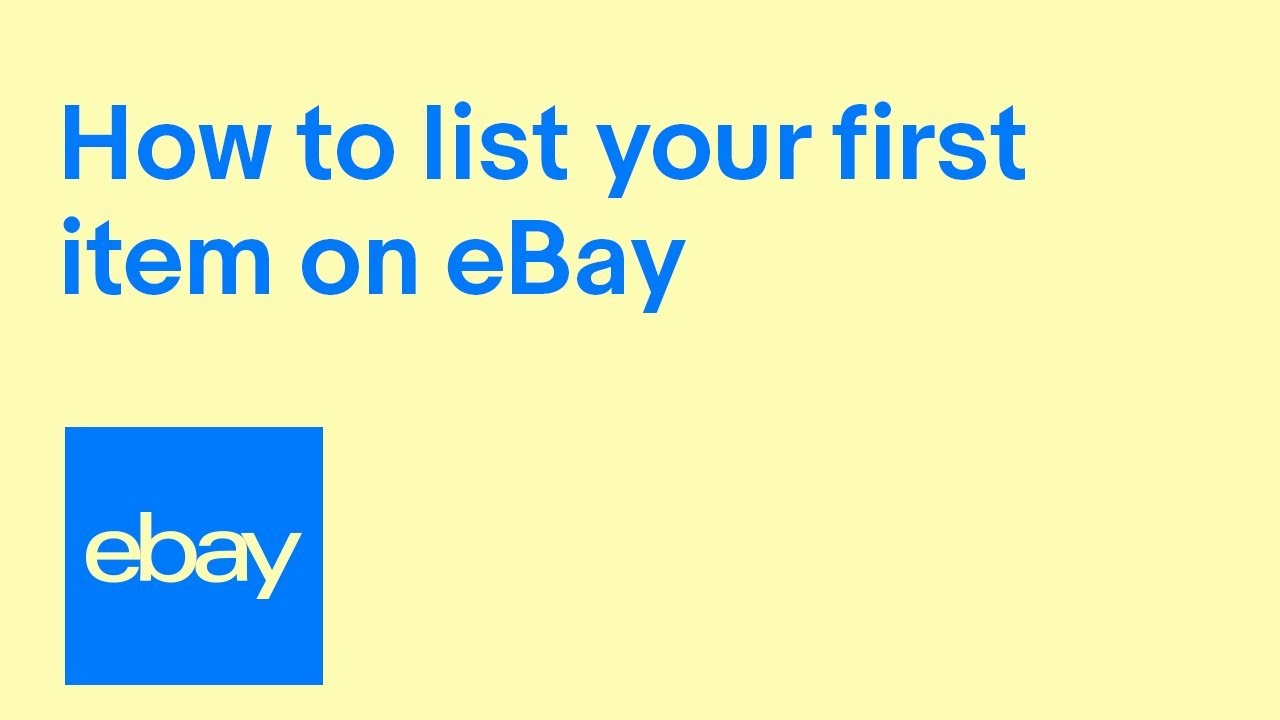 How To Sell On Ebay Official Uk Video Ebay For Business Uk Youtube