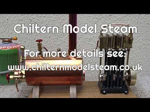 Live Steam Demonstration Chiltern Model Steam Twin Cylinder Marine Engines and Boiler
