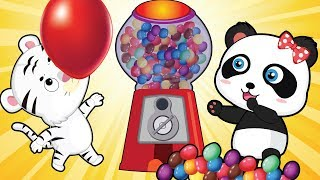 Baby Animals playing with chewing gum 💗 Children's cartoons & Nursery Rhymes