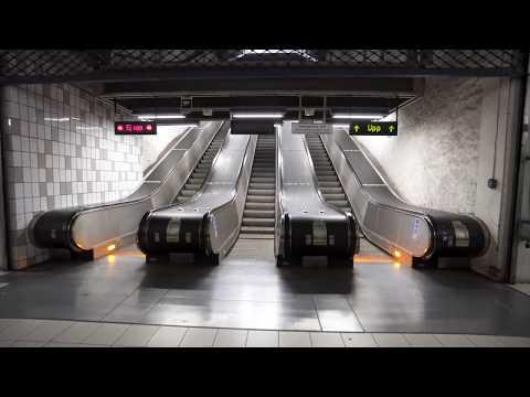 Sweden, Stockholm, Tensta subway station, 2X elevator, 4X escalator