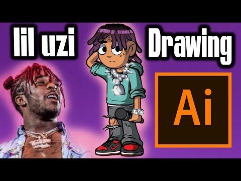 LIL UZI DRAWING IN SCOTT PILGRIM ARTSTYLE! ( ADOBE ILLUSTRATOR )