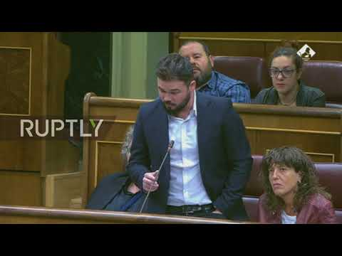 Spain: 'You reduce dialogue to rubber bullets' - Catalan MP Rufian Romero decries Rajoy government
