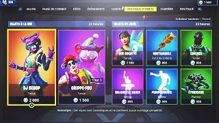 BOUTIQUE FORTNITE du 1er Janvier 2019 ! ITEM SHOP Januar 1 2019 !