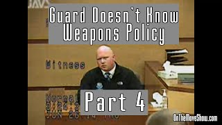 Guard Doesn't Know Weapons Policy | Part 4 | Open Carry Trial PT #24 | OnTheMoveShow