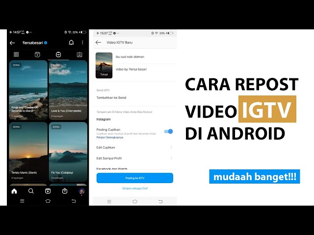 Cara Repost Video IGTV di Smartphone