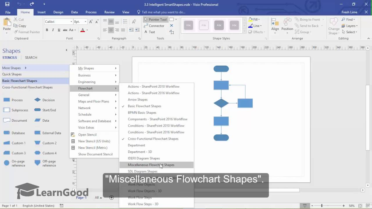 Microsoft Visio Tutorial - Intelligent SmartShapes - YouTube