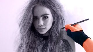 Sept-7 Girl charcoal portrait drawing  Art video - ThePortraitArt