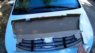 Бортжурнал Lada Хray   установил защиту радиатора верхнюю часть.