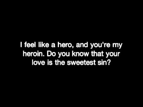 Boys Like Girls - Hero/Heroin (Lyrics)