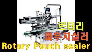 Rotary type pouch sealer. Mask…