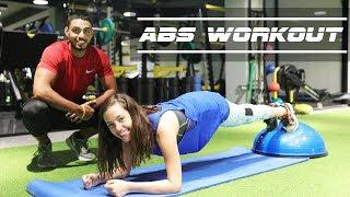 Abs Home Workout With Nour | تمارين رياضية لشدّ المعدة مع نور