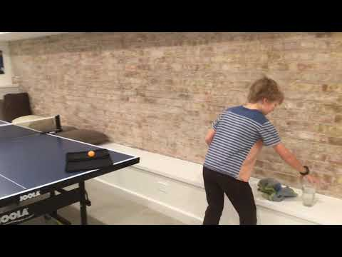 How to clean a ping pong paddle from a ten year old