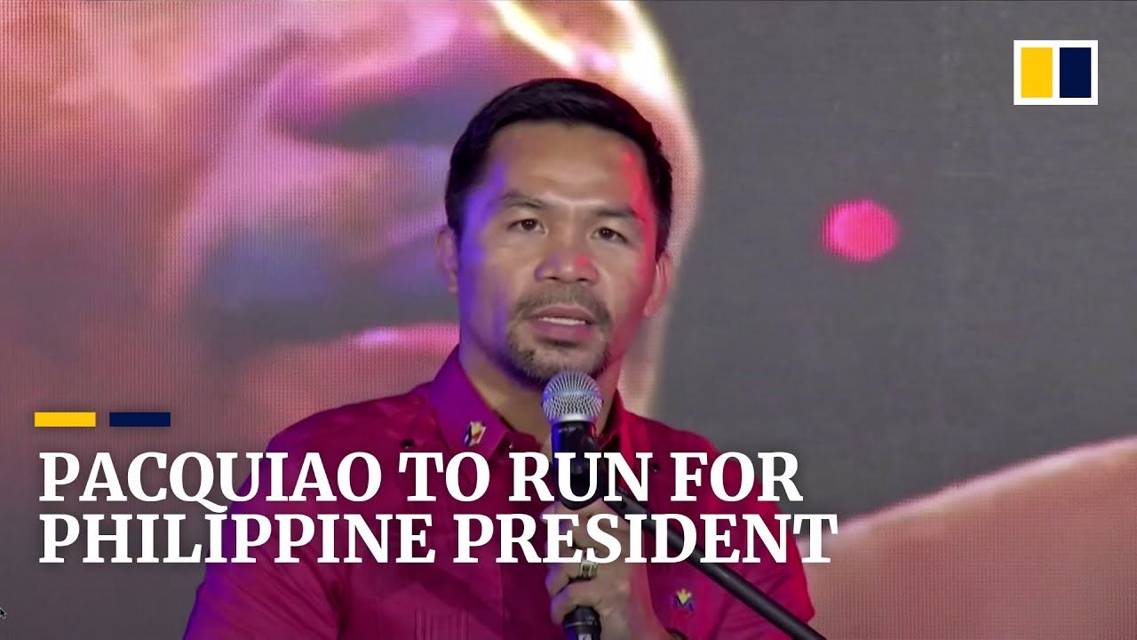 Download Philippine boxing star and senator Manny Pacquiao to join country's 2022 presidential race