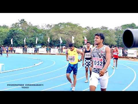 BOY'S U16  100m RUN FINAL. 33rd National Junior Athletics Championships 2017