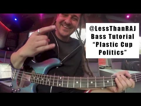 "Less Than Jake - Roger Lima - Bass Tutorial Vid 4 - ""Plastic Cup Politics"""