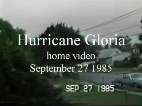 Hurricane Gloria September 27 1985 home video