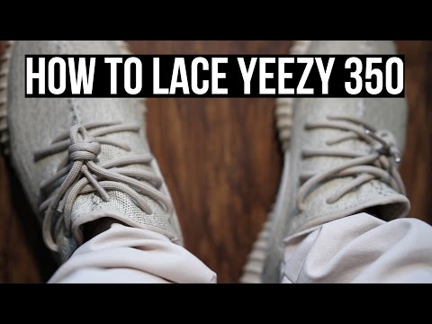 How To Lace Yeezy 350 Boost