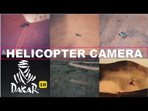 Dakar 18 The Game - Helicopter Camera. Vehicles From The Air