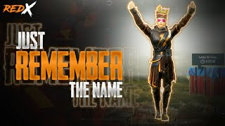 Just REMEMBER The Name REDX Redxop Gaming Pubg Mobile 2020