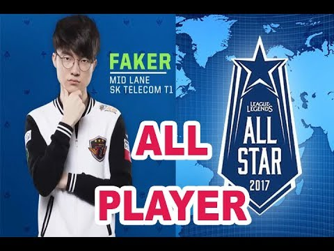 All player of All-star 2017( Korea, China, NA, Europe, LMS, Brazil, Turkey) | Master Lol TV